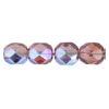 Fire Polished 7mm Transparent Amethyst Aurora Borealis